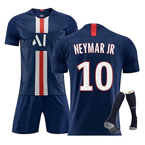 YANDDN 19-20 Pariser Trikot Nr. 7 Mbappe Nr. 10 Neymar Heim- und Auswärtsspielkleidung für Erwachsene Kinder-10blue-24