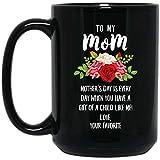 N\A Feliz día de Las Madres, mi mamá, Tienes un Regalo de un niño como yo, Taza de café Negra de 11 oz