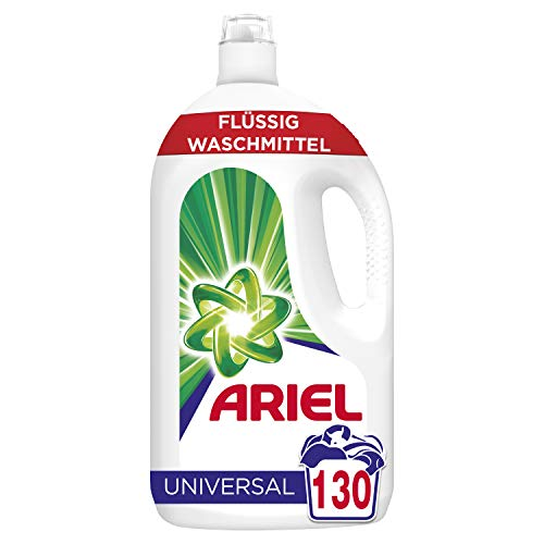 Ariel Universal Flüssigwaschmittel Strahlend rein 7,15 l, 130WL (2 x 65 Waschladungen)