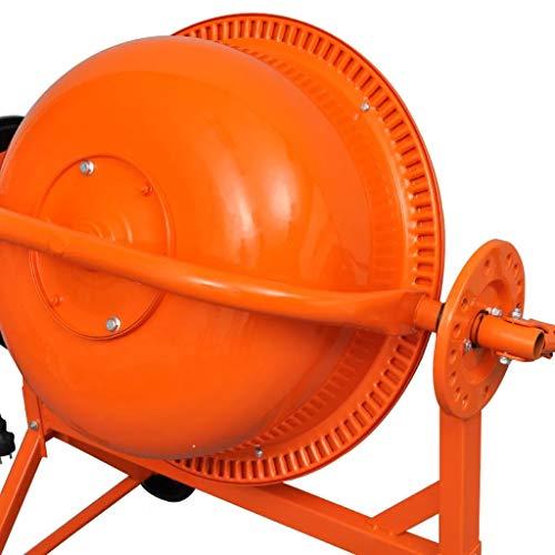 Hormigonera Vers/átil y Port/átil Acero Color Naranja 140 L 650 W Festnight