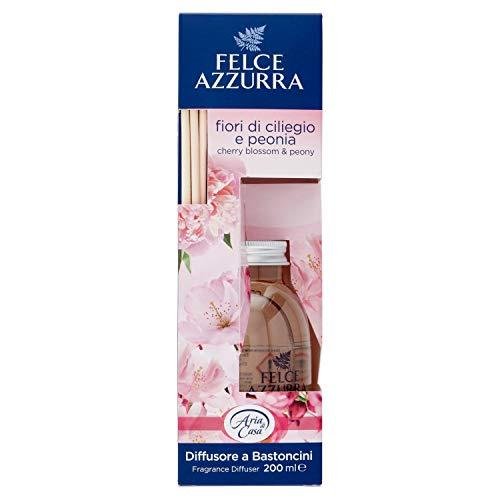 Felce Azzurra Aria di Casa Diffusore a Bastoncini Deodorante Ambiente Talco e Fiori di Ciliegio
