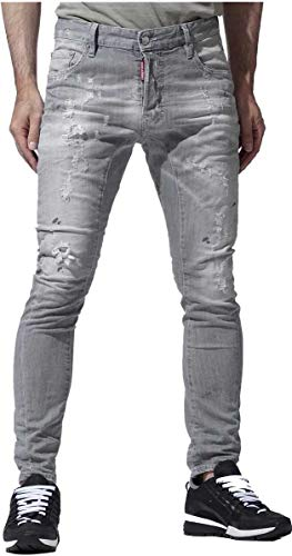 DSQUARED2 Herren Jeans | Tidy Biker Jean 48 50 52 54 Grey Distressed Dsquared 2 DS5