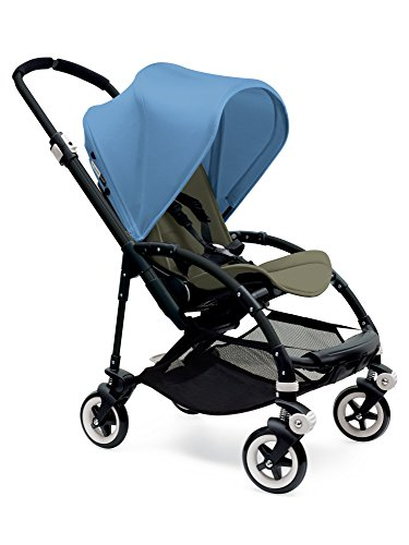 Lowest Prices! Bugaboo Bee 3 Black Frame Stroller With Dark Khaki Seat (Ice Blue)