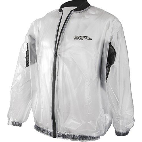 O'Neal   Giacca Moto Mountain Bike   MTB DH Downhill FR Freeride   Trasparente & Impermeabile Giacca Antipioggia Off-Road in PVC, Inserti a rete   Splash Rain Jacket   Adulto   Chiaro   Taglia L