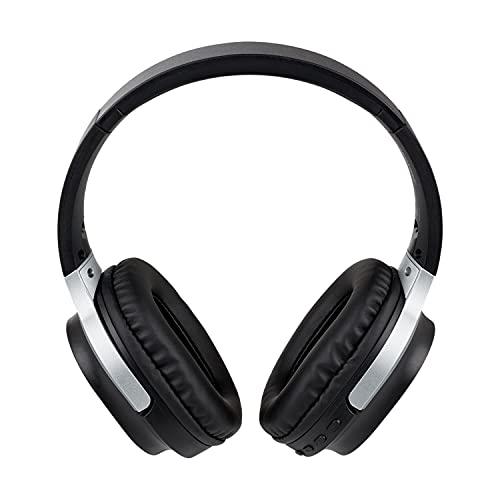 MEDION E62180 Kopfhörer (Overear, Bluetooth 5.0, kabellos, Freisprechfunktion, integrierter Akku, Mikrofon, USB, bis zu 10 St&en, Klinkenstecker)