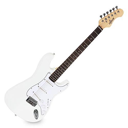 Shaman Element Series STX-100W - E-Gitarre in ST-Bauweise - geölter Hals aus Ahorn - Macassar-Griffbrett - weiß