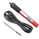 Shexton Mango de Soldador, Mini Pantalla Digital USB portátil Herramienta de reparación de Soldadura de Soldador eléctrico 5V 10W