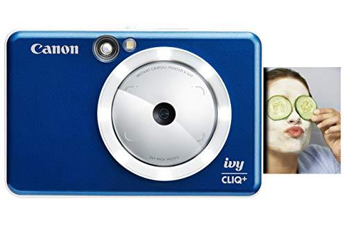 Canon Ivy CLIQ+ Instant Camera Printer, Mobile Photo Printer Via Bluetooth(R), Sapphire Blue