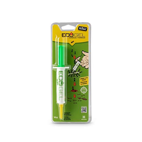 NOVAR 14041415 Ecogel Hormigas Jeringa 10 Gramos Blister, Verde Y Amarillo