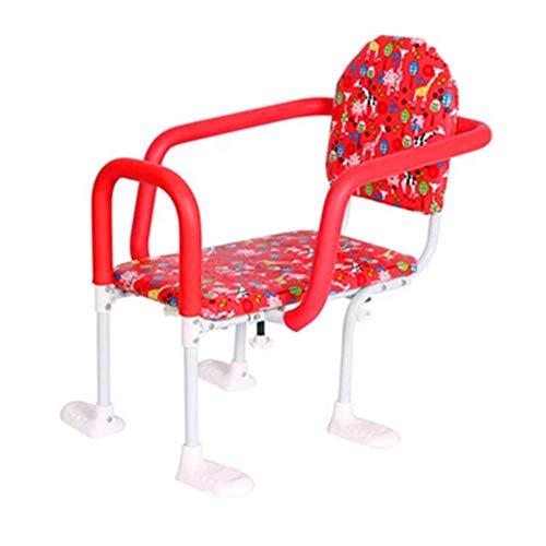 TB-Scooter Seggiolino per Bambini con Montaggio Posteriore per Mountain Bike, seggiolino per Bambini con Doppio seggiolino per Bici con braccioli e Pedali