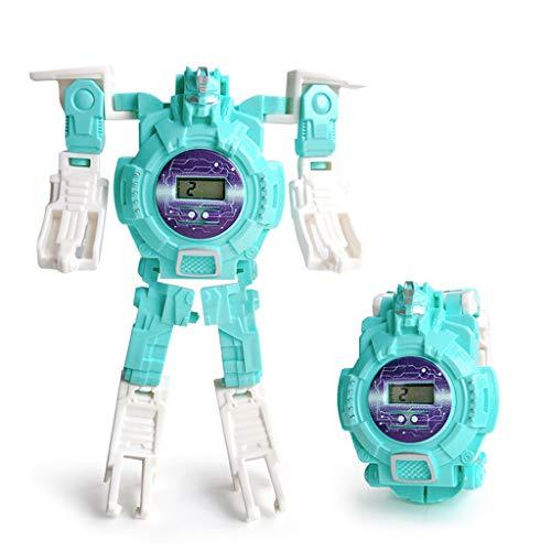 TSBB Deformation Robot Watch Niños Reloj de Pulsera electrónico Robots Transformation