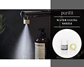 Purifit Nemora Innovations Water Saving Nozzle with Mist for Taps Use in Kitchen, Wash Basin Alter and Adjust Speed of Water Flow (Small, Ivory)