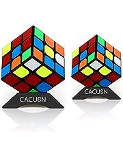 CACUSN 立体パズル 2個セット(3×3、3×3) 令和進化版 回転スムーズ 競技用キューブ 世界基準配色 スタンド付き