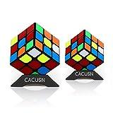 スピードキューブ CACUSN 2個セット(3×3、3×3) 令和進化版進化型 回転スムーズ 競技用 立体パズル 世界基準配色 ver.2.1 パズルスタンド付き