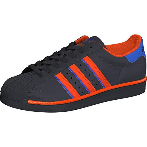 adidas Originals Superstar, Zapatillas de Gimnasio para Hombre, Grigio Arancione BLU, 50 EU