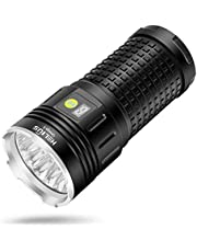 Helius LED 懐中電灯 15000ルーメン USB充電式 18xCREE XML T6 LED IPX67防水 防災 強力 軍用 最
