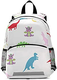 SERVICEWIN Kid Backpacks for Boys and Girls with dinosaur