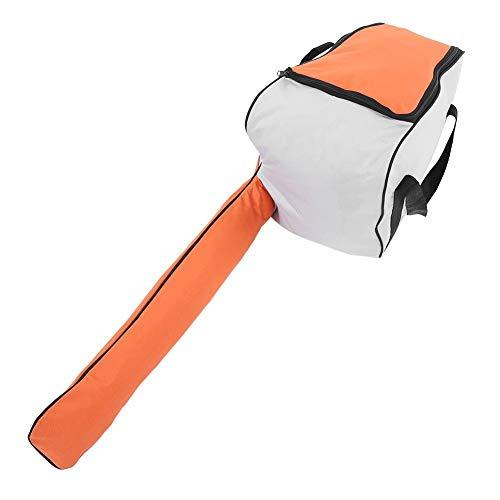 TOPINCN Sacchetto immagazzinaggio Motosega Portatile Ispira Tessuto Resistente Sega Catena Oxford Custodia Trasporto all'aperto Custodia Protettiva Resistente all'abrasione(Arancione)