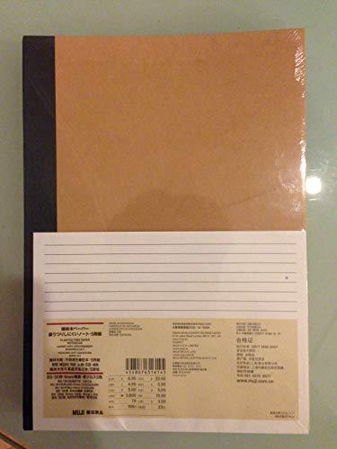 [CONJUNTO de 5] Muji Papel reciclado Cuaderno B5, 30 páginas, 6 mm forrado (5 colores de la cubierta: azul, gris, amarillo, negro, rojo) Hecho en Japón