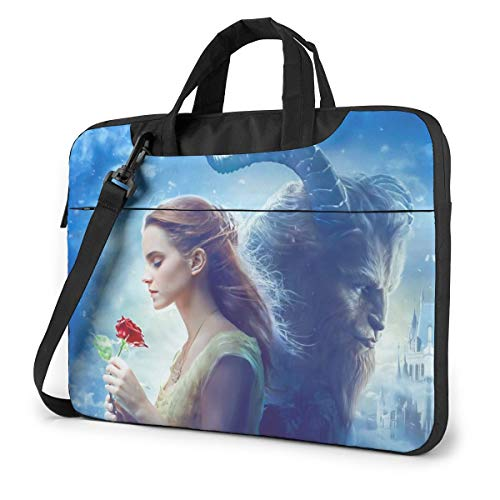 Beauty and The Beast Laptop Messenger Shoulder Bag Case Sleeve Briefcase for 13-15.6 Inch