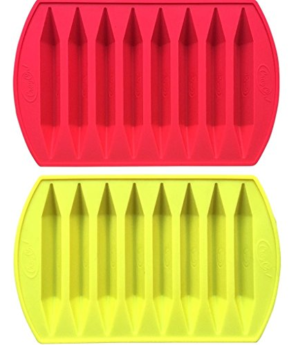 Crayon Double Tipped, Triangular Silicone Crayon Molds (2 Pack)