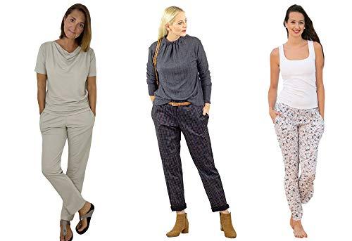 Papierschnittmuster/lässige Hose, Damenhose/Gr. 158 bis Damengr. 46 inkl. Nähtutorial zum selber Nähen