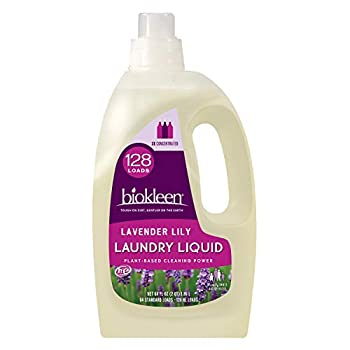 Biokleen Natural Laundry Detergent - 128 HE Loads - Liquid Concentrated Eco-Friendly Non-Toxic Plant-Based No Artificial Fragrance or Preservatives 64 Fl Oz
