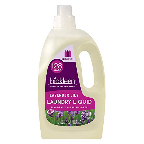 Biokleen Natural Laundry Detergent - 128 HE Loads - Liquid, Concentrated, Eco-Friendly, Non-Toxic, Plant-Based, No Artificial Fragrance or Preservatives, 64 Fl Oz