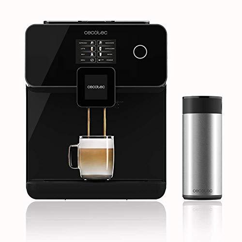 Cecotec Cafetera Automática Power Matic-ccino 8000 Touch Serie Nera. Depósito de leche, Pantalla Táctil, Prepara Cappuccino, Café Personalizable, Tecnología ForceAroma 19 bares de presión