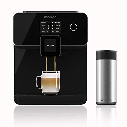 Cecotec Power Matic-ccino 8000 Serie Nera Kaffeevollautomat Plug And Play 1500W ForceAromaTechnologie 19 Dezibill Wassertank 1,7 Liter Milchtank 0,4 Liter Rostfreier Edelstahl In Schwarz