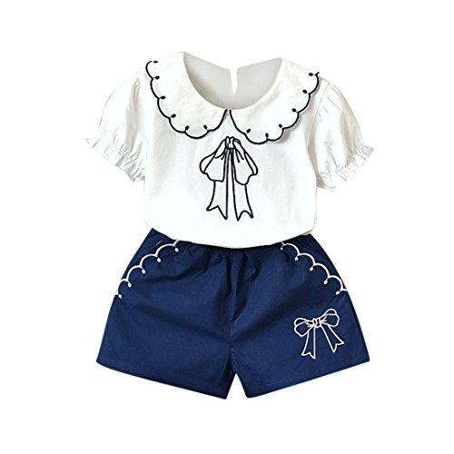 Bonjouree Ensembles Shorts et Haut Gar/çon T-Shirts Shorts pour Gar/çon 1-6 Ans