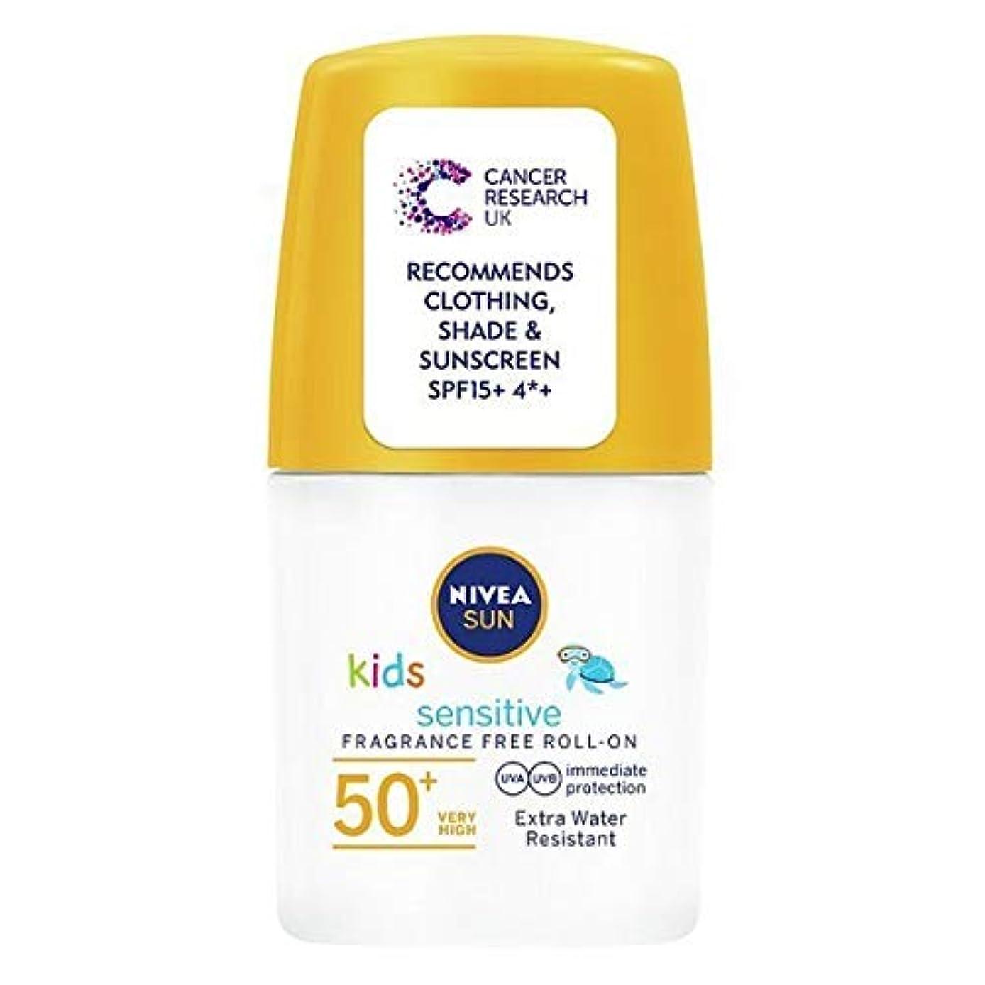 復活するテラスモナリザ[Nivea ] ニベアの太陽の子供たちは、ロールオンSpf 50+敏感肌の50ミリリットルを日焼け止めクリーム - NIVEA SUN Kids Suncream Roll-On SPF 50+ Sensitive Skin 50ml [並行輸入品]
