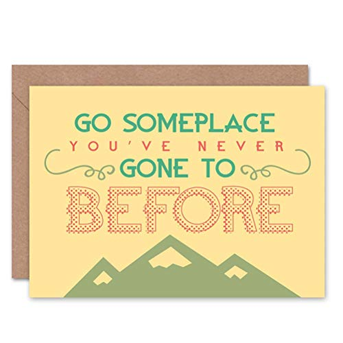 Wee Blue Coo Card Greeting Quote Motivation Dalai LAMA GO Someplace