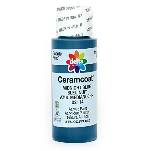 Delta Creative Ceramcoat Acrylic Paint in Assorted Colors (2 oz), 2114, Midnight Blue