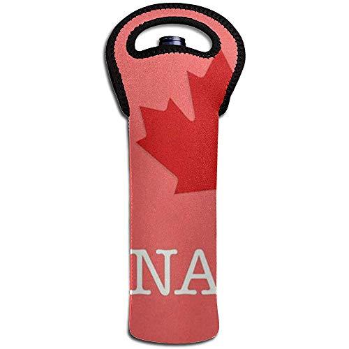 Ich liebe Kanada Wein Tote Tragetasche Geldbörse für Champagner, Wein, Wasserflaschen 15 X 38 cm