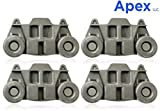 APEX Dishwasher Premium Wheels Lower Rack W10195416 for WhirlPool Kenmore Kitchenaid Pack of 4