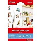 Canon MG-101 Papier Photo Magnétique Brillant Format 10x15cm (5 feuilles)