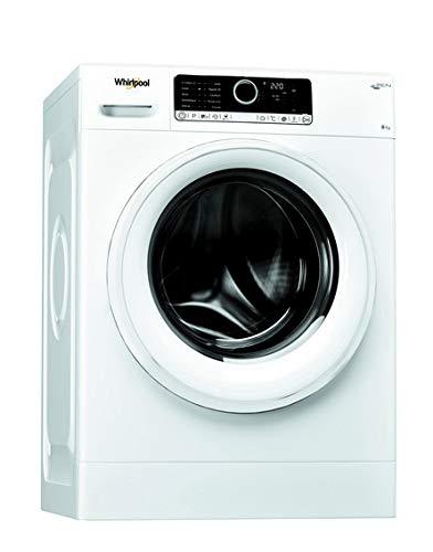 Lave linge Hublot Whirlpool FSCR80499 - Lave linge Frontal - Pose libre - capacité : 8 Kg - Vitesse d'essorage maxi 1400 tr/min - Moteur à induction - Classe A+++
