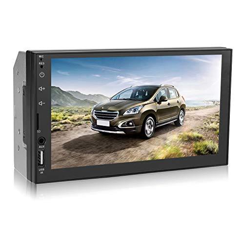 Denash Bluetooth Car Stereo MP5 Player, HD 7 Pollici Dual 2 DIN Lettore Video USB/TF/AUX/FM Bluetooth 4.0 Multimedia per Android per iOS