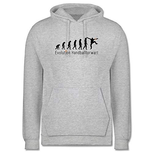Shirtracer Evolution - Handballtorwart Evolution - M - Grau meliert - Handballtorwart Evolution - JH001 - Herren Hoodie und Kapuzenpullover für Männer
