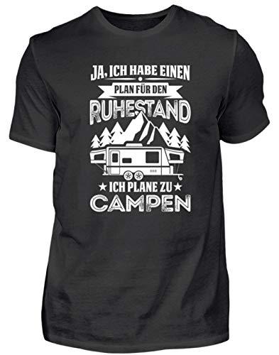 Plane voor pensioen ik Plane zu Campen - Heren Shirt