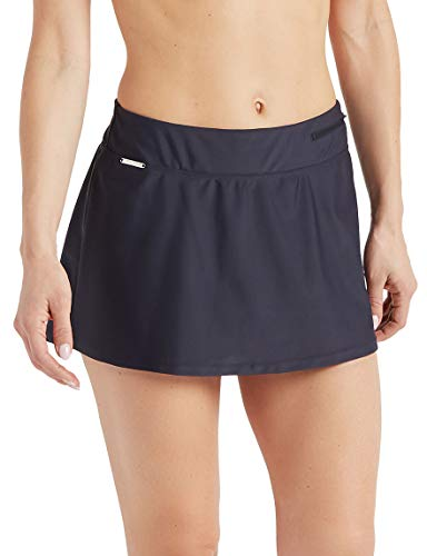 ZeroXposur Womens Sport Skirtini Swim Pool Beach Swimsuit Bottoms Skirt Charcoal Medium