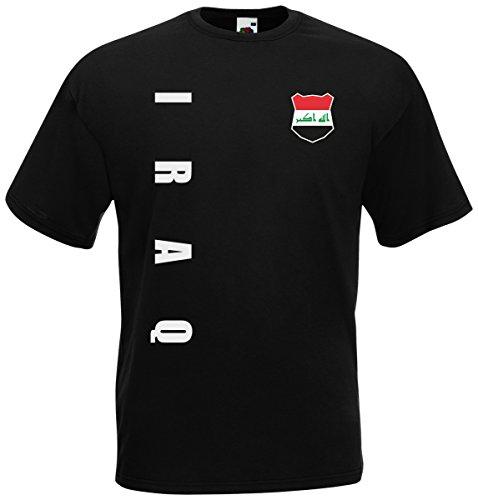 Irak Iraq WM-2022 T-Shirt Trikot Wunschname Nummer Schwarz L