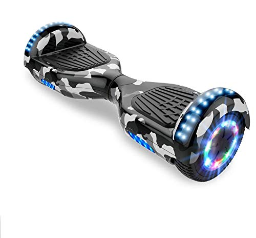 Hoverboards, Bluetooth 6.5 Pouces Self Balancing Scooter Gyropode avec Roues Flash LED E-Scooter z29 (Army Green)