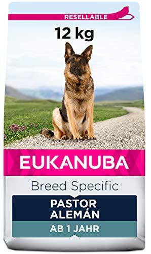 EUKANUBA Breed Specific Alimento seco para perros pastor alemán adultos, alimento para perros óptimamente adaptado a la raza 12 kg