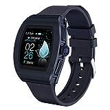 SHUBIHU Fitness Armband mit Pulsmesser Fitness Tracker Smartwatch Aktivitätstracker Pulsuhr Schrittzähler Uhr Sportuhr für Damen Farbbildschirm Fitnessuhr (Blau)