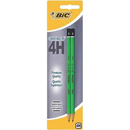 BIC Criterium 550 Matite di grafite 4H, confezione da 2