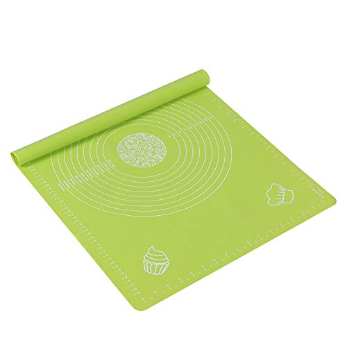 Changor Estera para Hornear, Alfombrillas de Hornear de Silicona Fuerte 64 x 45 cm Hecho de Material de Silicona de Grado de Gel de sílice para amasar la Masa (Azul, Verde)