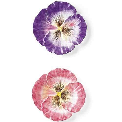 Halcyon Collection, Pansy Snack Plates, Set of 2