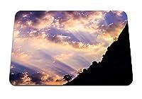 26cmx21cm マウスパッド (傾斜木夜明け雲空) パターンカスタムの マウスパッド